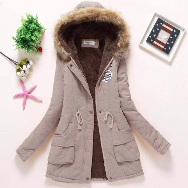 ORDER áo khoác kaky loat lông hàng nhập quảng châu