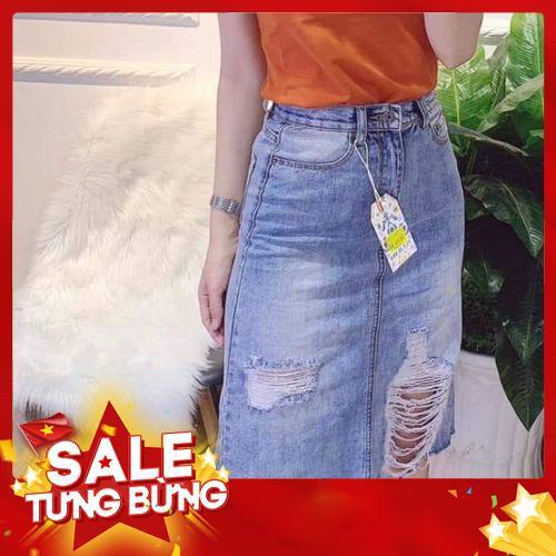 Bigsizr - Chân váy jean siêu co giãn -Hàng nhập khẩu