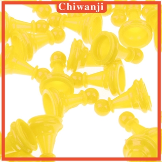 Hình ảnh [CHIWANJI] Checkers Board Game Accessories Pieces Pack of 50 Yellow Pieces Chess Game
