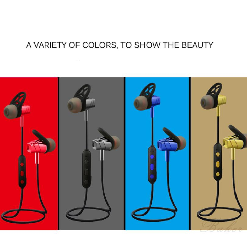 Magnetic Bluetooth Headset Stereo Wireless Rain And Sweatproof Headphones 82