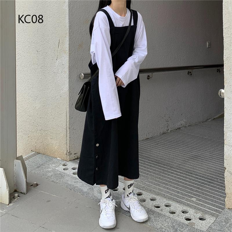 Set quần dài và áo thun tay dài phong cách Hàn Quốc thời trang cho nữ