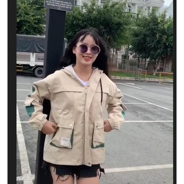 áo khoác kaki 2 lớp phối 6 túi
