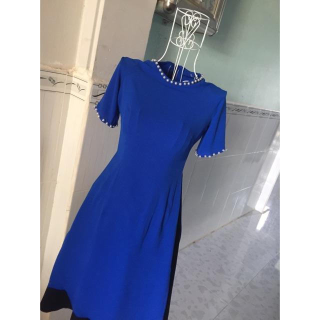 Áo Dài Cách Tân tặng Chân Váy - Voan Cát Kết Bi