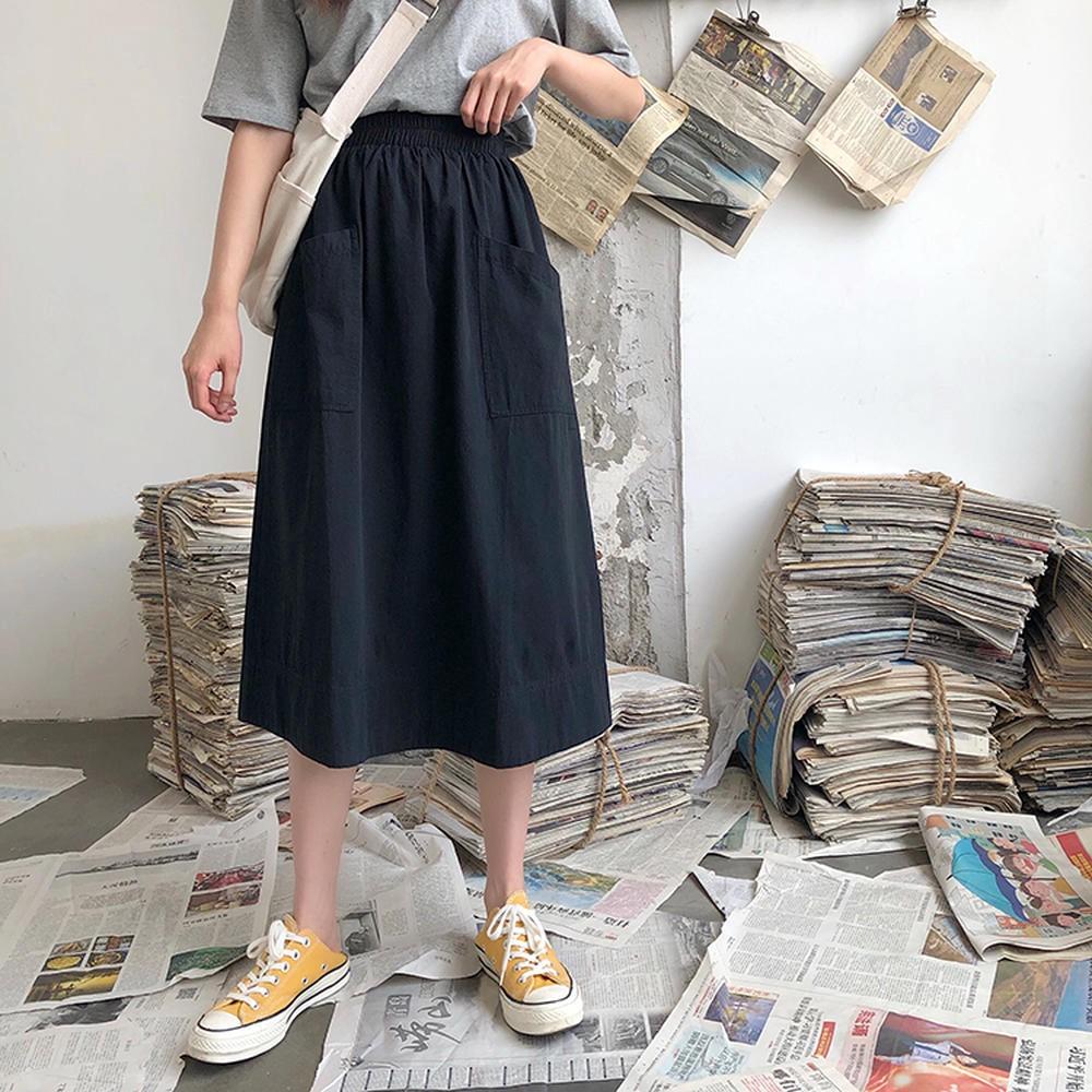 Chân Váy Chữ A Lưng Thun Thời Trang Cho Nữ