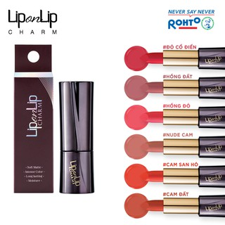 Son lì Collagen siêu mịn Lip On Lip Charm 4g