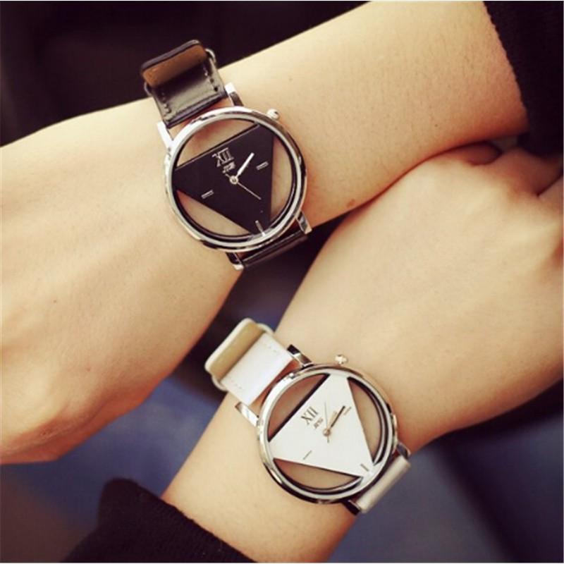 Đồng hồ kim dây da phong cách Hàn Quốc