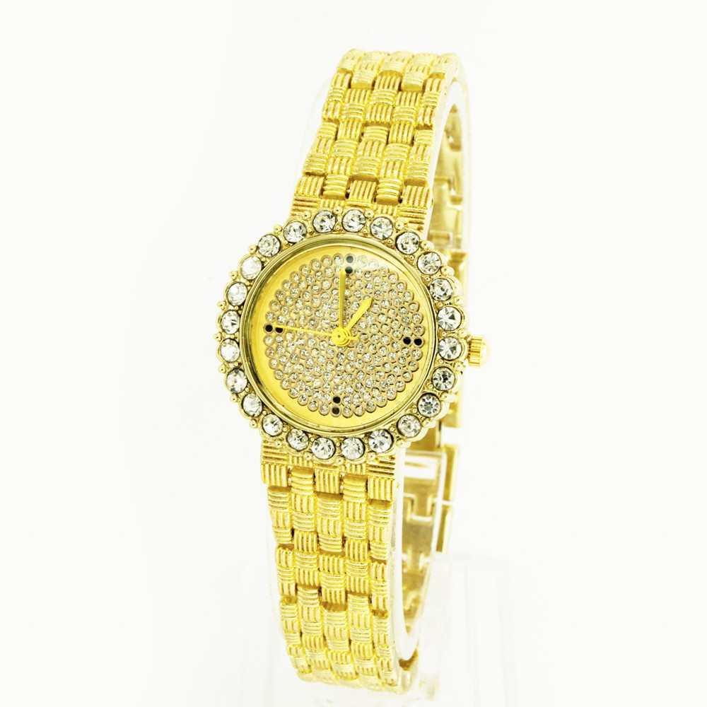 Đồng hồ nữ Bewatch dây kim loại tròn đá