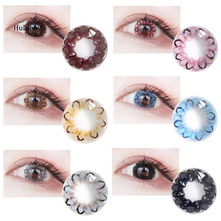 HLBY2Pcs Colored Contact Lenses Comfortable Cosmetic Wear Parties Makeup Eyewear