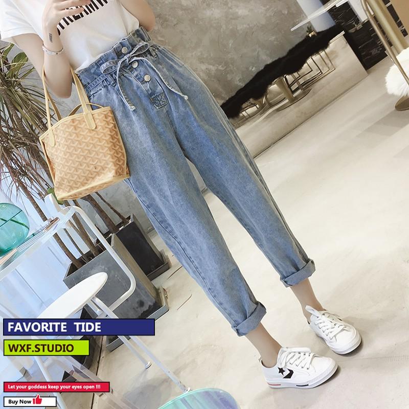 Quần Jeans Ống Đứng Thời Trang Xuân Thu 2020 Cho Nữ