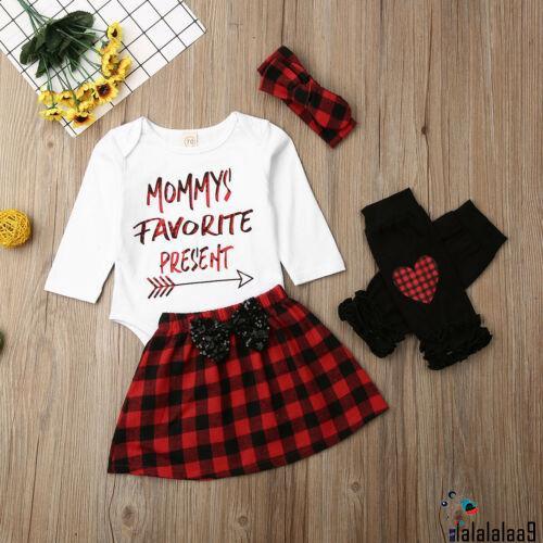 Set áo liền quần + Chân váy xòe + Băng đô chủ đề Giáng sinh cho bé gái