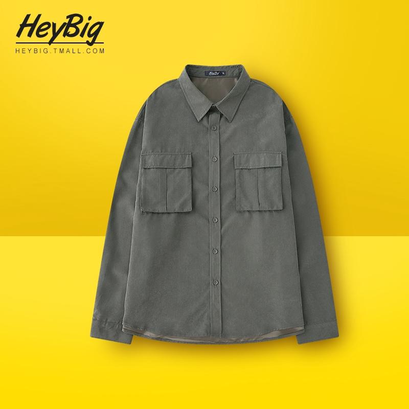 Áo sơ mi dụng cụ Mỹ nam dài tay mùa xuân và mùa thu phong cách quân đội áo khoác nhiều túi Nhật Bản