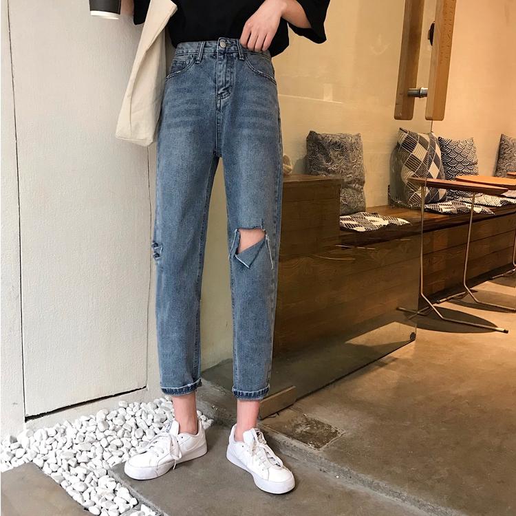 Quần Bò Ống Đứng Thời Trang, Q-xxx45 ,Thời Trang NữQuầnQuần jeans