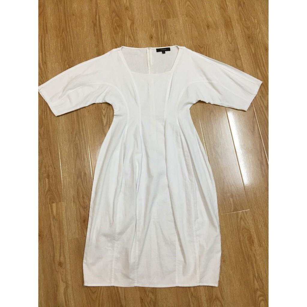 [Thanh lý] Váy đầm trắng cổ vuông Cocosin
