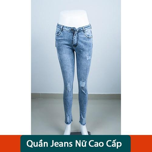 Quần Jeans Nữ Co Giãn Cao Cấp Hila Jeans Form Ôm Body, Hot Trend