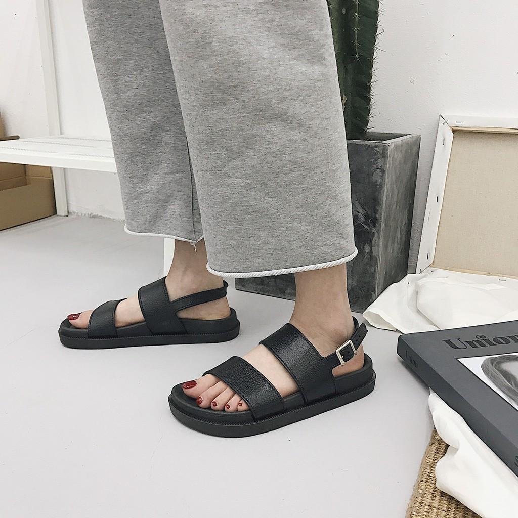 [ CÓ SẴN ] Sandal quai ngang bản to - chất da PU siêu đẹp mẫu mới đón Hè