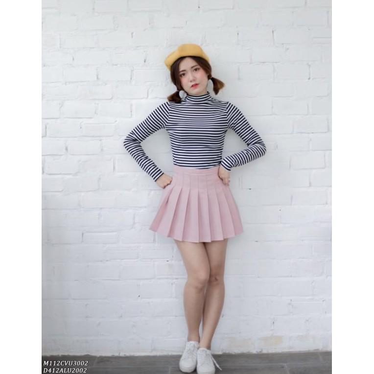Áo len và chân váy
