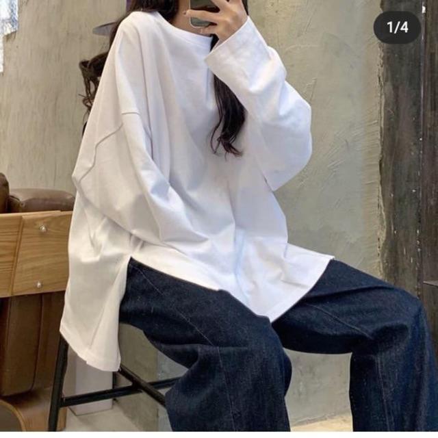 Combo áo len áo thun trắng hàn quốc 2019