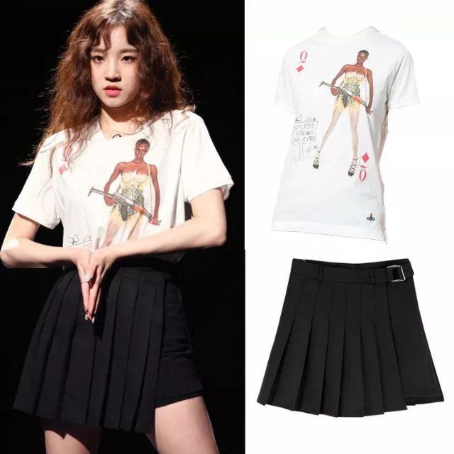 [ORDER+ẢNH THẬT] Chân váy xòe xếp ly đai khóa liền quần RedVelvet Hàn quốc
