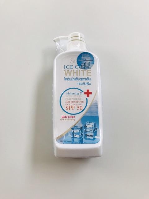 Dưỡng thể trắng da và chống nắng seren ice cool white body thái lan 700 ml