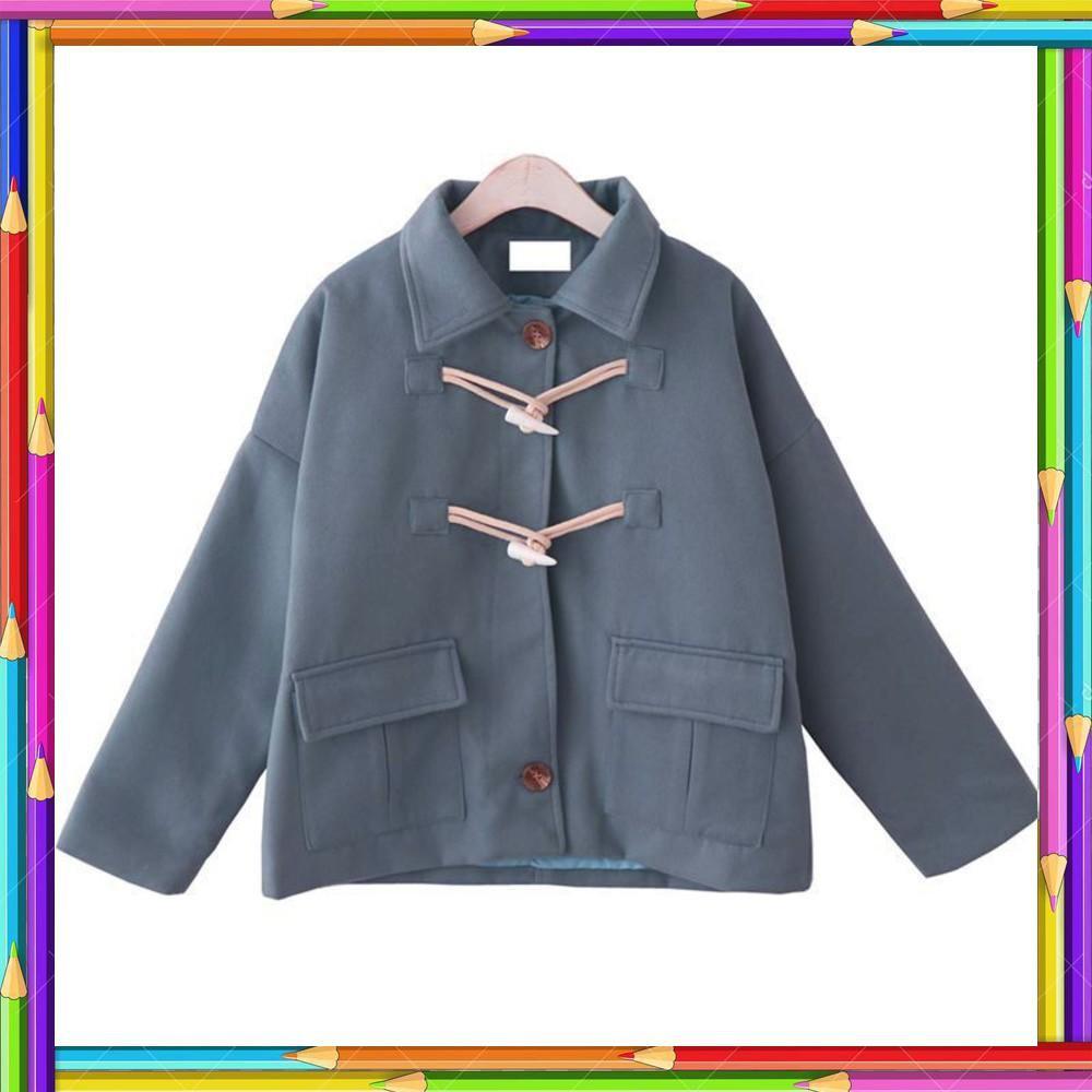 ABC order 10 ngày_ảnh thật+video_áo khoác dạ khuy sừng chần bông (5 màu)