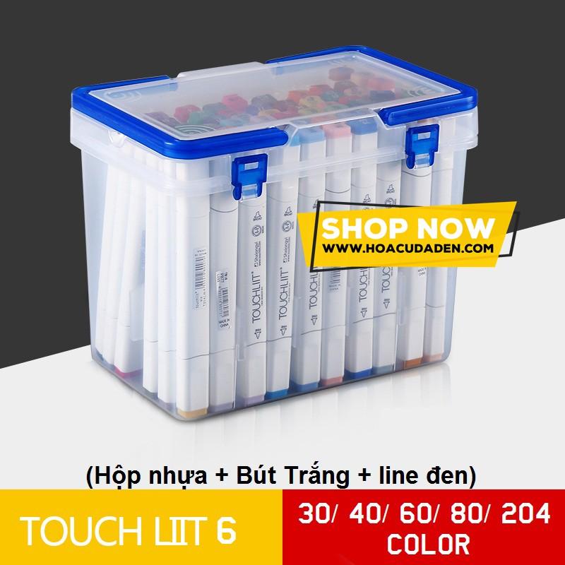 Bút marker TOUCH LIIT 6 hộp nhựa 30/40/60/80/204 màu (có quà tặng)