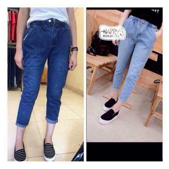 Quần jeans cạp chun