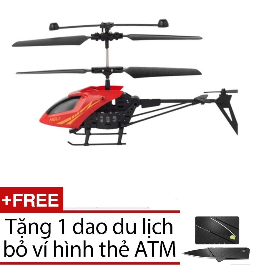 Máy bay điều khiển từ xa mini + tặng 1 dao du lịch atm ( VRG007937 - ĐỎ )