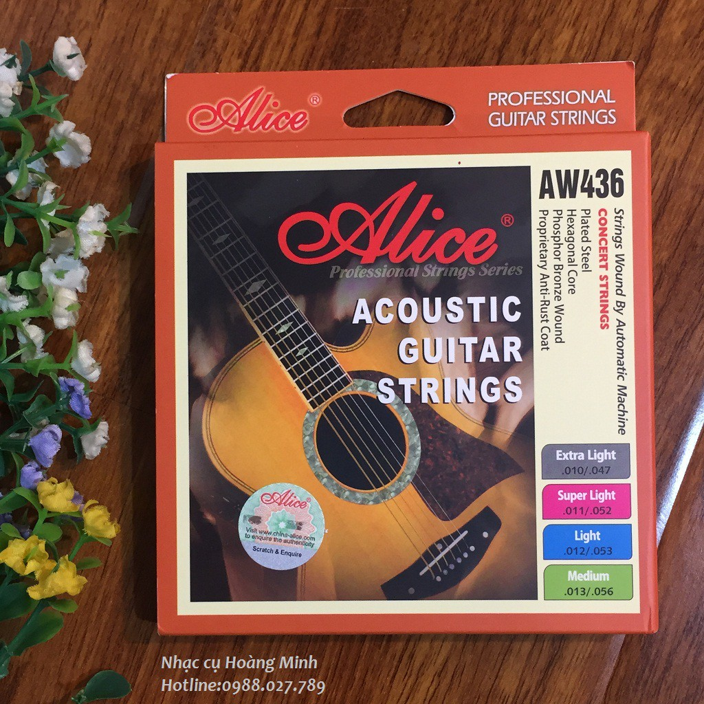 DÂY GUITAR AUCOUSTIC ALICE AW436