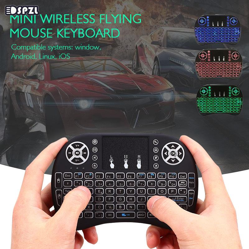 Wireless Keyboard Remote Control Keyboard Wireless Mouse 2.4GHz Touchpad PC Network Player Portable I8 Projector