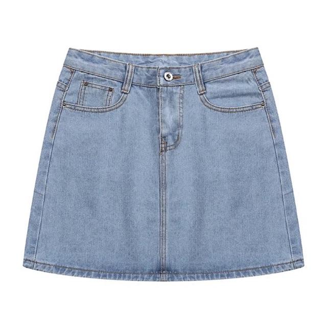 (Có sẵn/ảnh thật) Chân váy jean basic