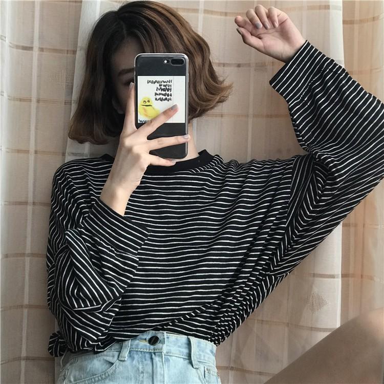 Shop mới áo sọc fORm rộng Quảng Châu order