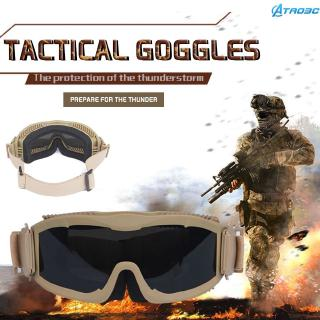 On sale Tactical Airsoft Vented Safety Goggles Glasses Eye Wear Goggles Glacier Ski Aviator Glasses tao3c