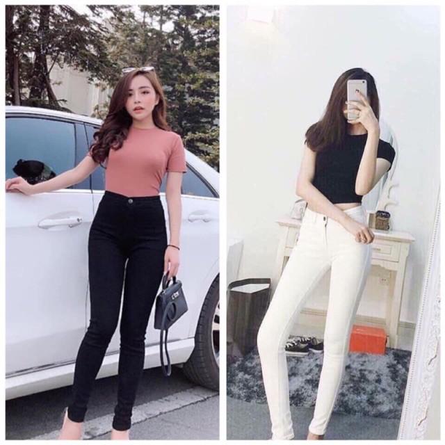 Giảm giá Nhập WA0504 giảm 9k đơn 99k_ Bán sỉ quần jean asos skiny 2 màu đen- trắng cho nữ siêu rẻ