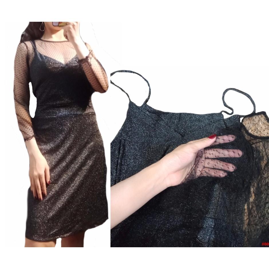 Set yếm kèm đầm body 2 xinh xắn dây dành cho nữ