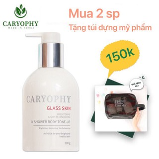 Kem Dưỡng Trắng Da 3 in 1 GLASS SKIN in Shower Body Tone up Caryophy