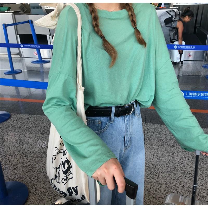 Order, mã sp: A28092, áo thun dài tay basic phong cách hàn quốc, korean style, thu đông 2018