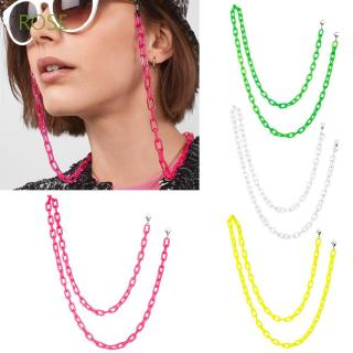 ROSE Women Men Candy Color Acrylic Glasses Necklace Eye wear Accessories Glasses Chain