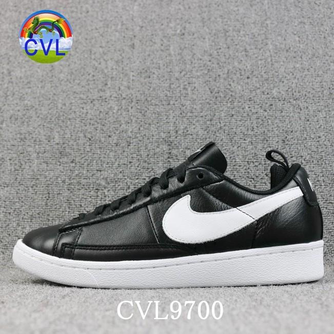 (Phong Cách) Nike Blazer Low Giày Chạy Bộ Thoải Mái Và Thoáng Khí AA1057-001 Đen trắng cổ điển