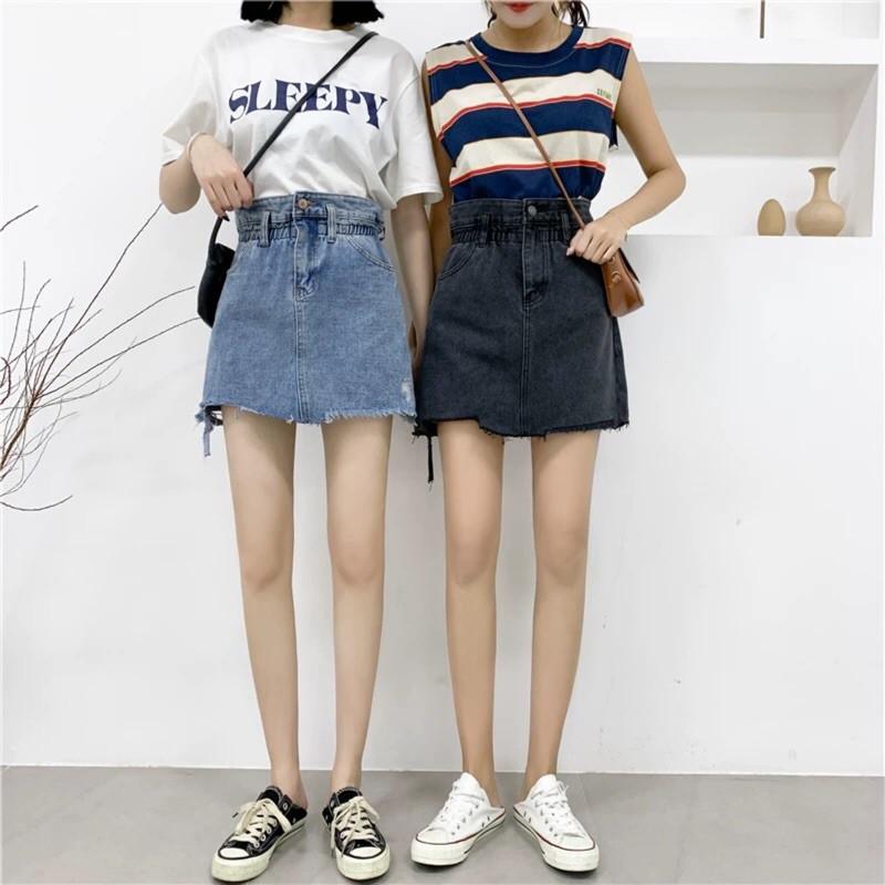 Chân Váy Denim Phong Cách Hàn Quốc