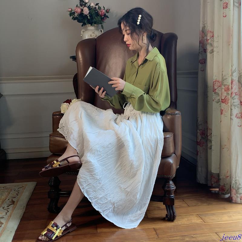 Chân Váy Chữ A Xếp Ly Xinh Xắn Cho Nữ Mùa Thu