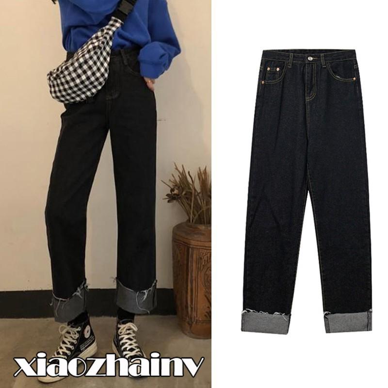 [WACB25 - giảm 25k đơn 99k]Quần jean ống rộng lưng cao phong cách Hàn Quốc