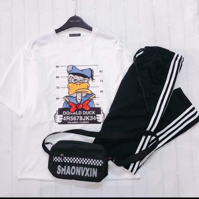 Combo set 1 áo thun 1 quần jogger giá siêu rẻ