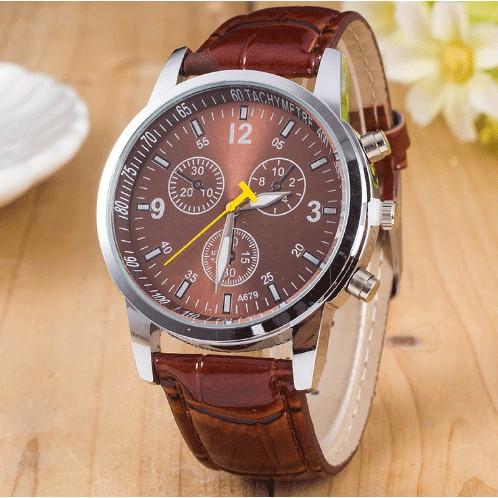 Đồng hồ dây da thời trang nam DH078