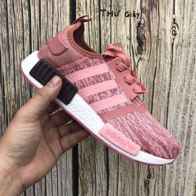 Giày NMD hồng xước