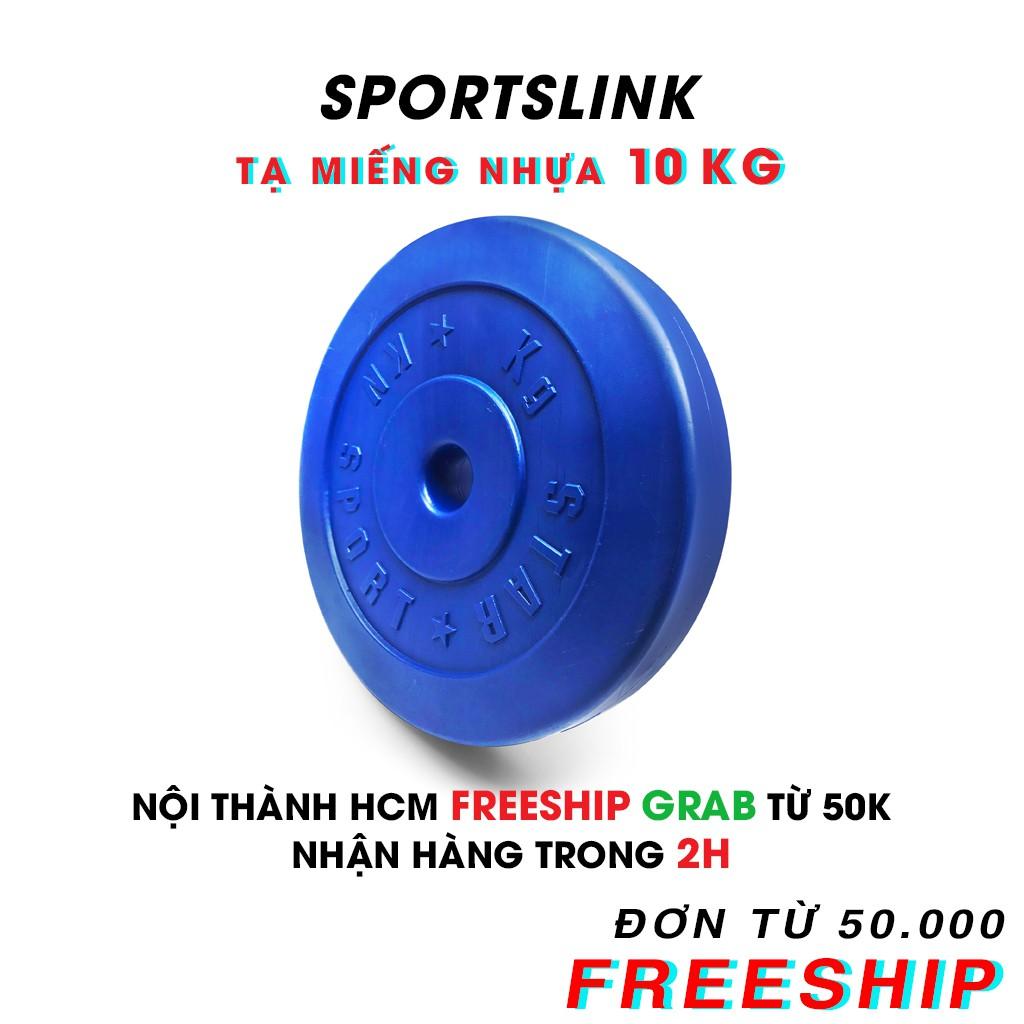 [ FREESHIP ] Tạ MIẾNG nhựa 10 kg (Xanh)