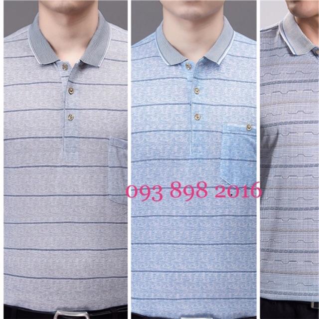 Combo 3 áo thun cotton giấy mỏng Nam Trung Niên