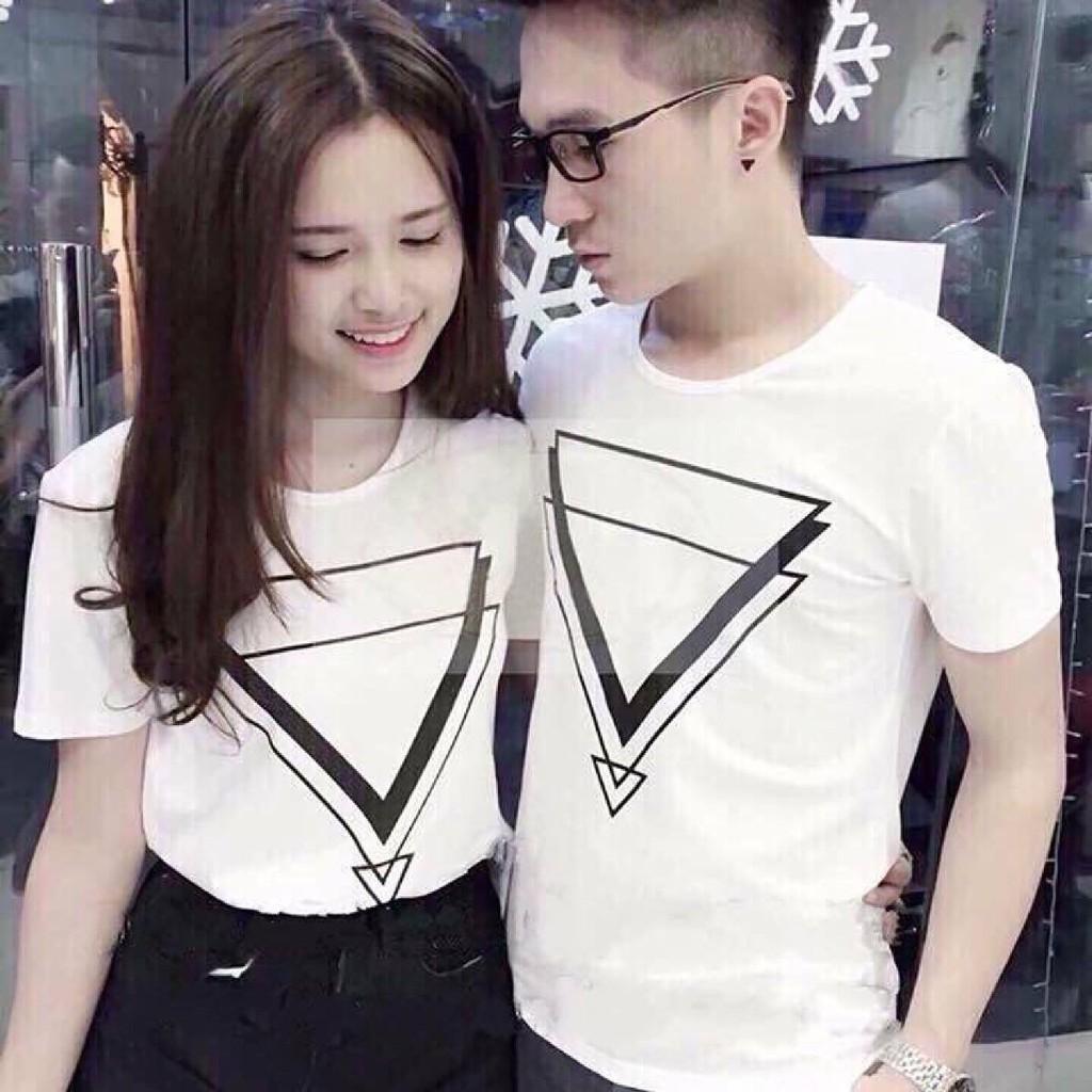 áo thun cặp tam giác tình yêu