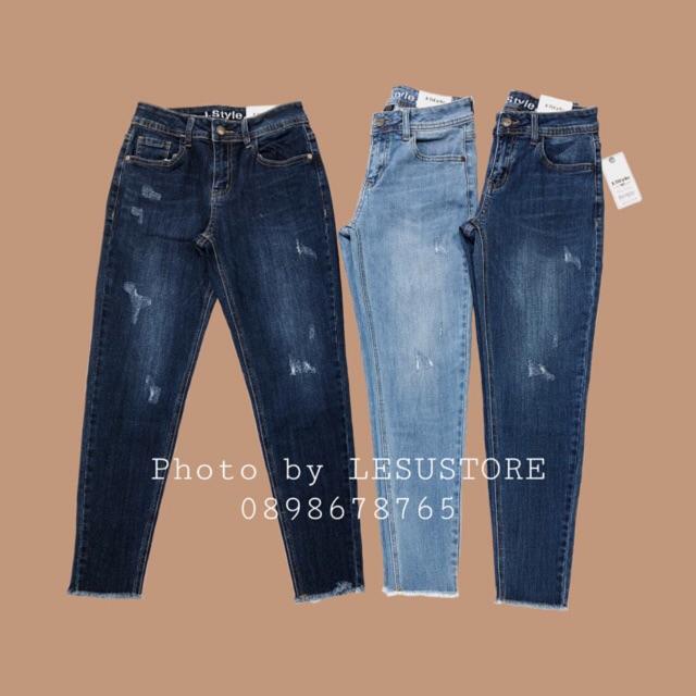 ẢNH TỰ CHỤP Quần Jeans Boyfriend Xước Lai Tua