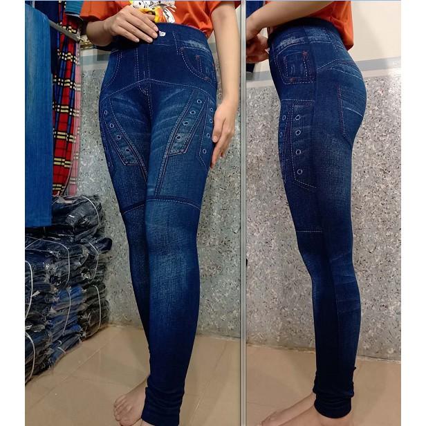 shopee,táo Quần jeans nữ cạp cao trên rốn siêu co giãn form dáng ôm