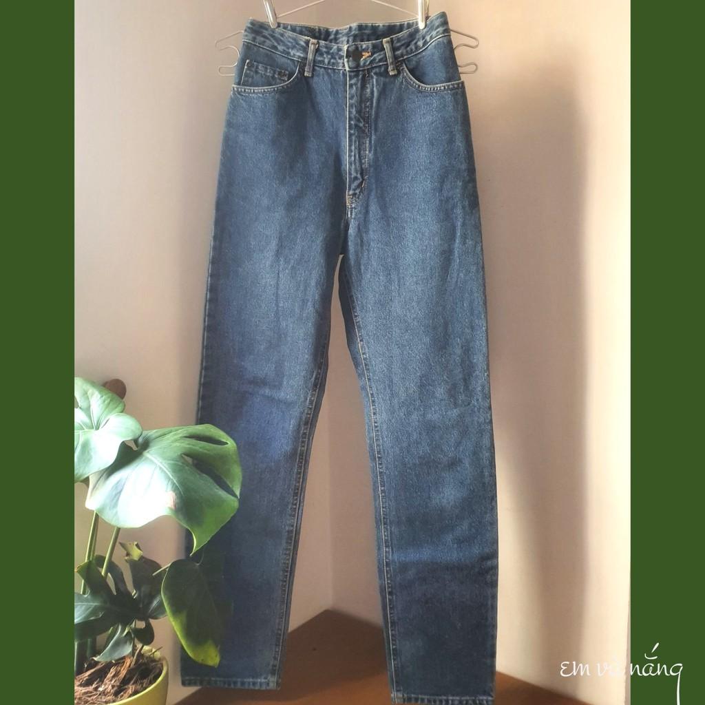 Quần jeans vintage lưng cao hiệu Authentic Spirits baggy - Em và nắng